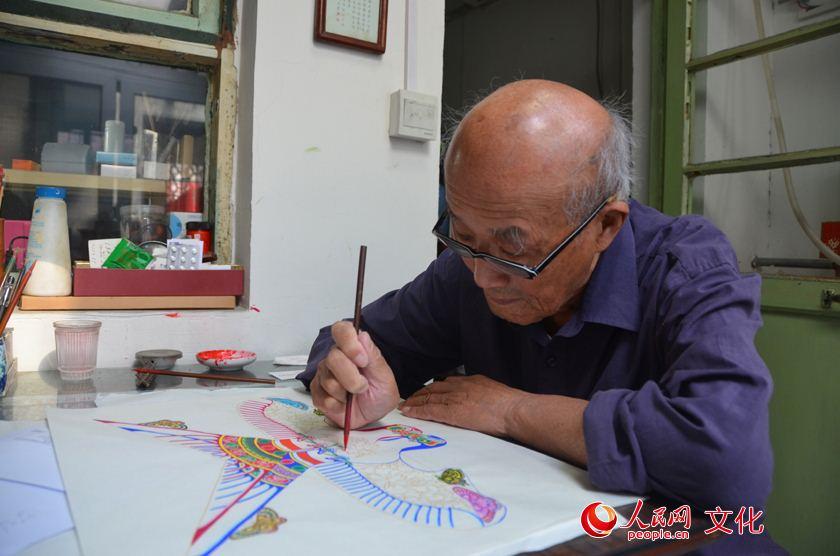87岁风筝大师费保龄:雪芹自有后来人 扎燕飞进奥运会