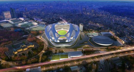 东京奥运主场馆设计遭日民众吐槽 被指像乌龟