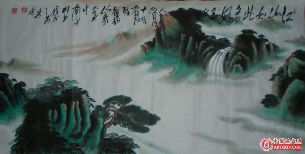 中国艺术家推荐-军旅画家王福山(当阳醉龙)