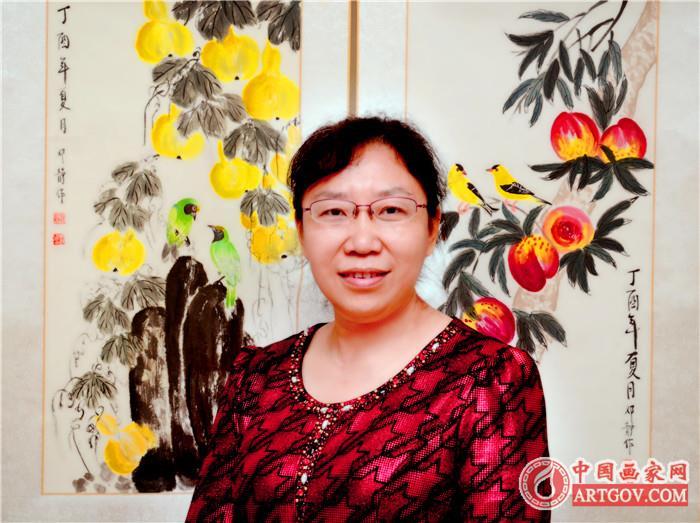 【中国画家推荐】邓静|中国当代著名花鸟画家