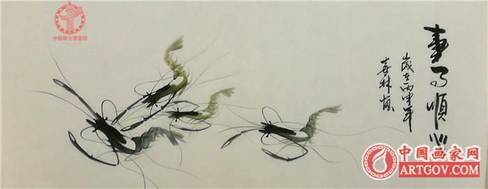 中国侯派画虾技法创始人,国家一级美术师侯喜林