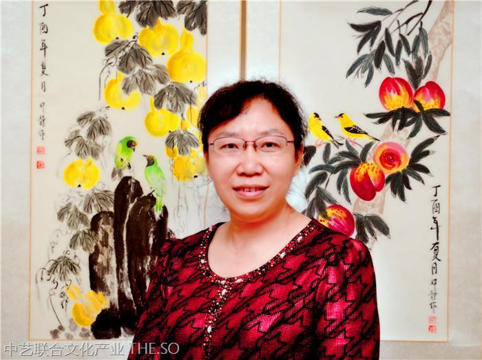 邓静著名花鸟女画家 艺术作品展示