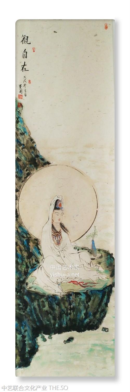 董利当代著名画家《观自在》佛教造像作品欣赏