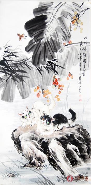 薛 峰擅长写意《百猫图》