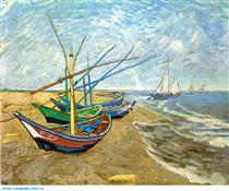 文森特·梵高海边渔船