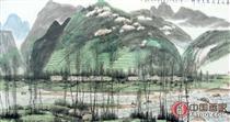 张仁芝 作品 山水 镜芯