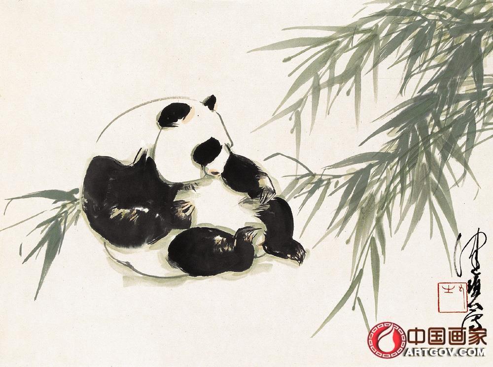 陈佩秋-熊猫