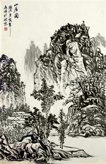 画家孟师山水画