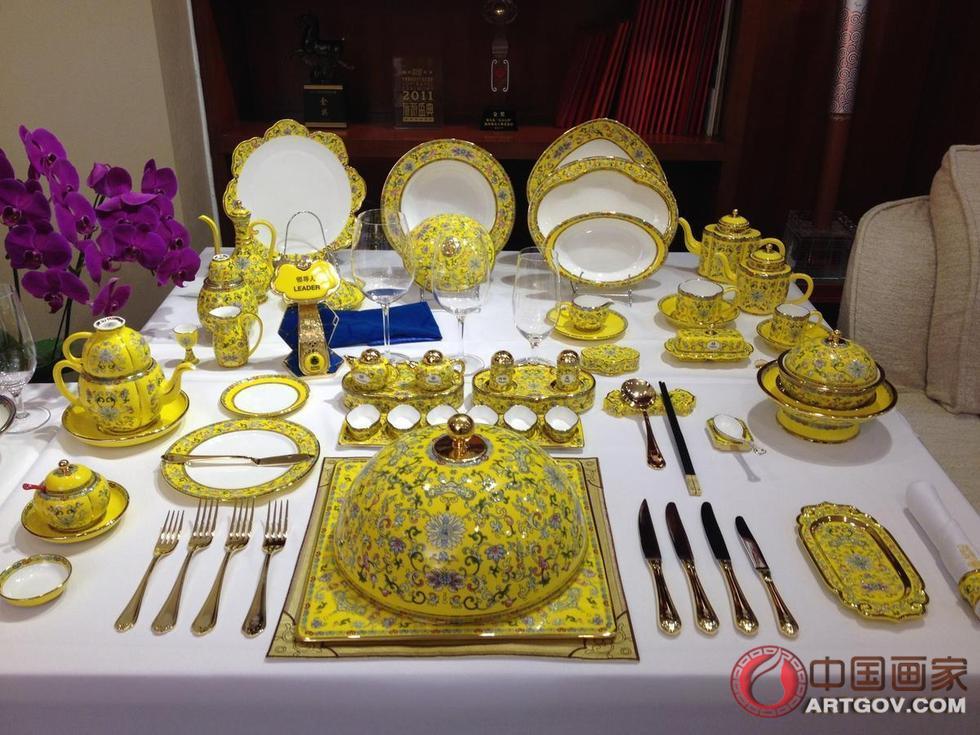 APEC欢迎晚宴餐具来自温州 设计到制作花百万