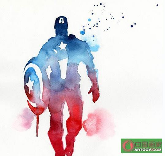 Blule的水彩版超级英雄