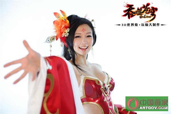 韩国靓妹中国风Cosplay:美爆了
