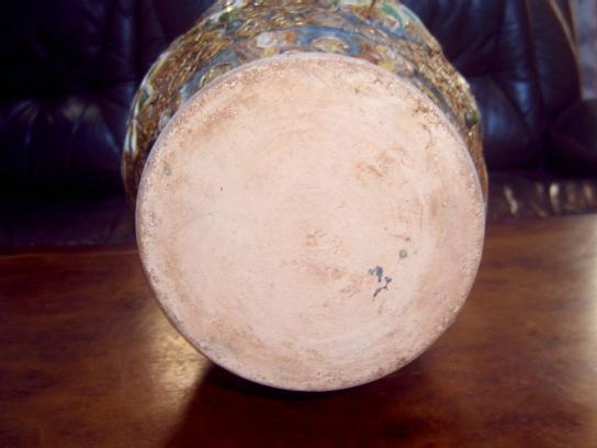 辽三彩铜包花瓶,高38cm