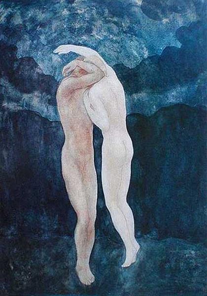 著名诗人纪伯伦的绘画作品 曾师从罗丹