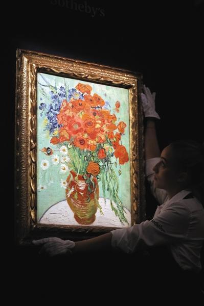 梵高《雏菊与罂粟花》拍出3.77亿元 买家为王中军