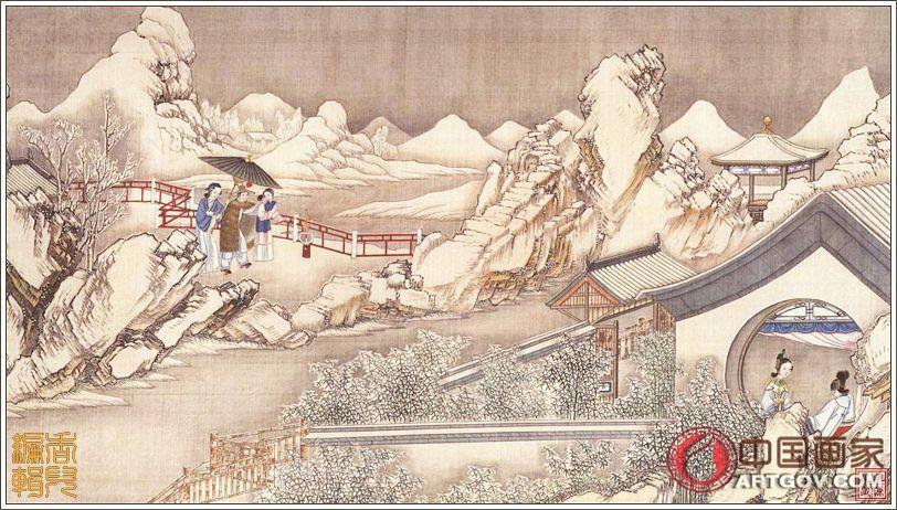 清代国画大师孙温先生《红楼梦》巨幅工笔画,太珍贵了!