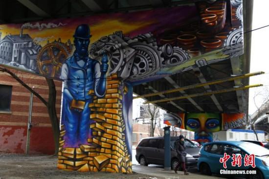 多伦多桥柱艺术记录城市变迁