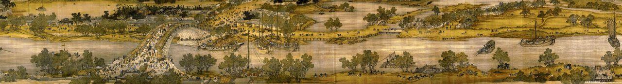 清明上河图全图赏析--中国十大传世名画之一