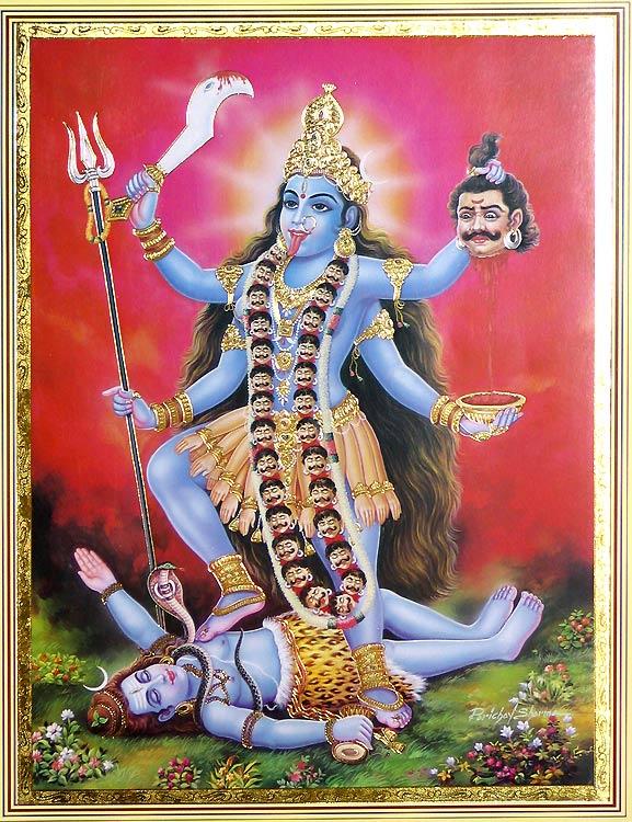 为什么印度古画经常看到男人躺地、女人站在男人身上的画面?
