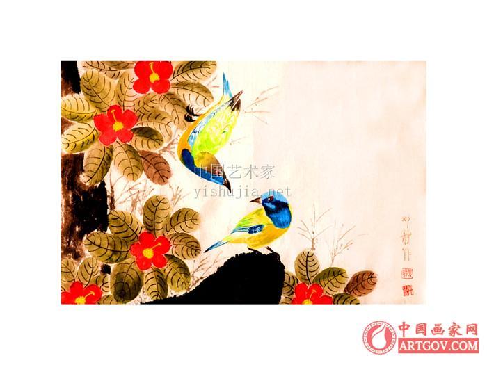 书画家邓静 著名花鸟画家邓静老师