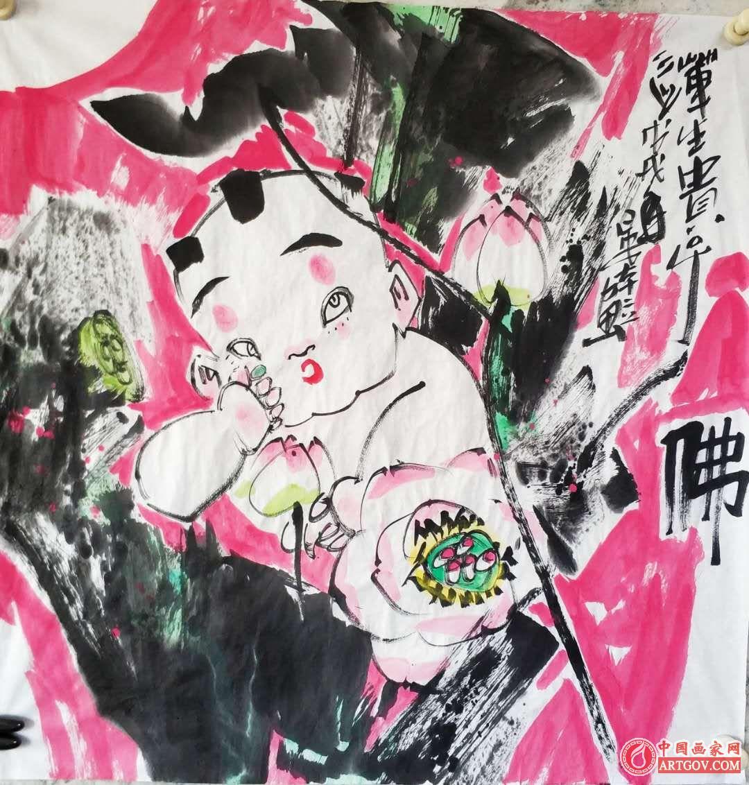 晏本立著名人物画家《2018金秋》作品分享